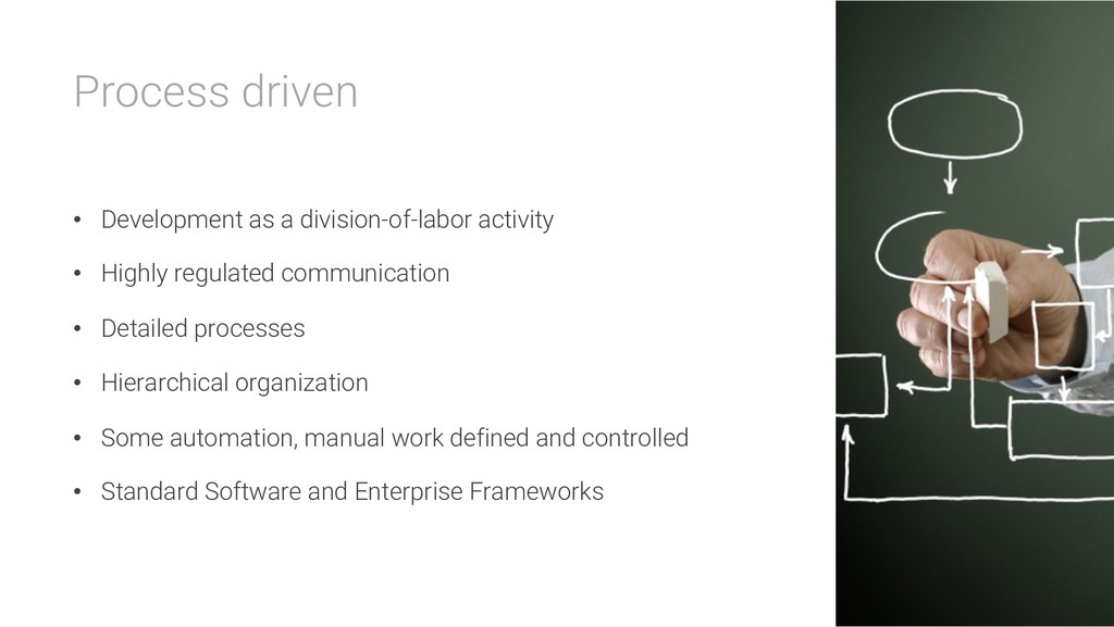 Process driven • Development as a division-of-l...