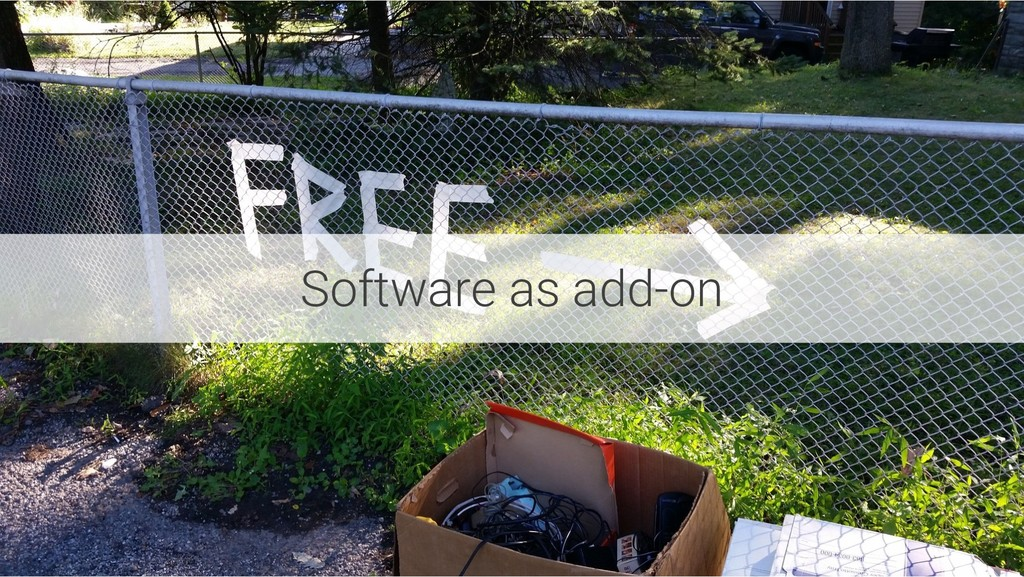 Software as add-on