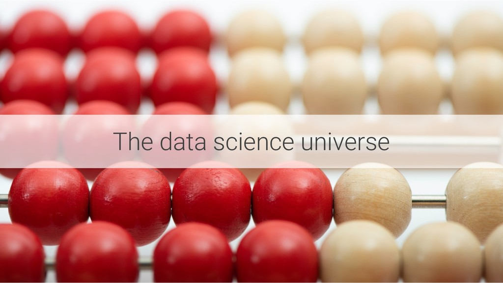 The data science universe