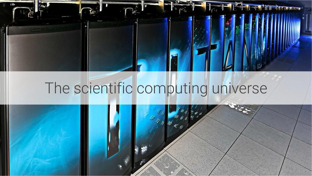 The scientific computing universe