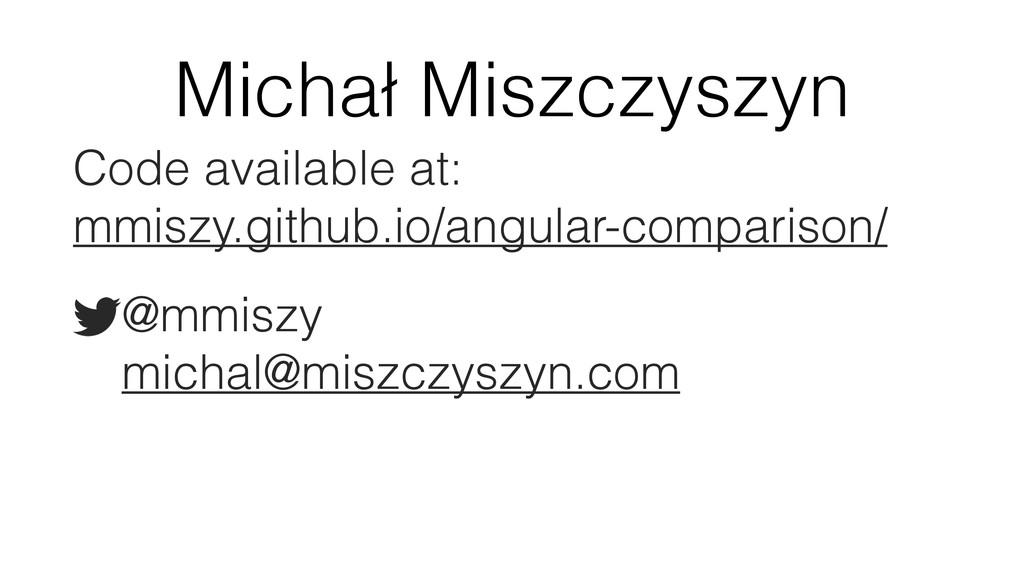 Michał Miszczyszyn Code available at: mmiszy.g...