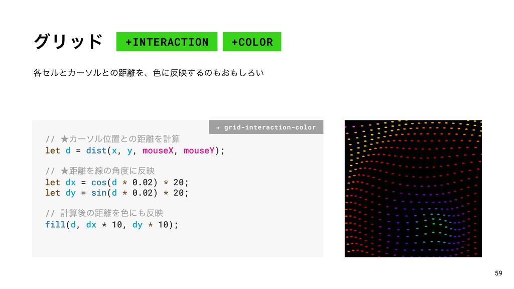 άϦου +COLOR 59 +INTERACTION // ˒ΧʔιϧҐஔͱͷڑΛܭ l...