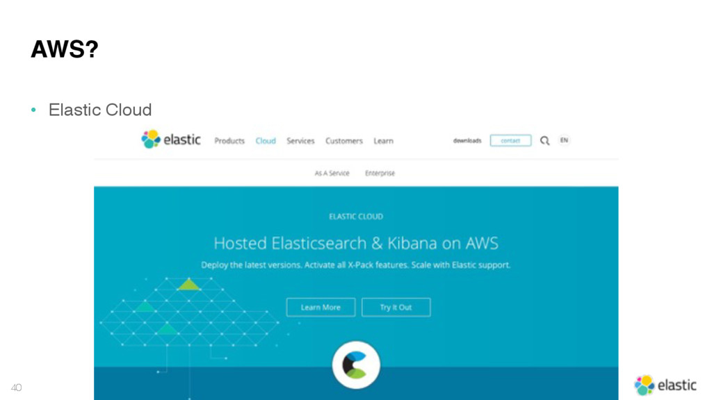 40 AWS? • Elastic Cloud