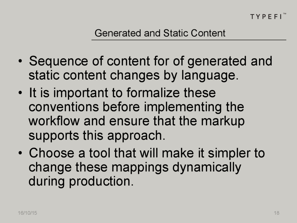 16/10/15 18 • Sequence of content for of gener...