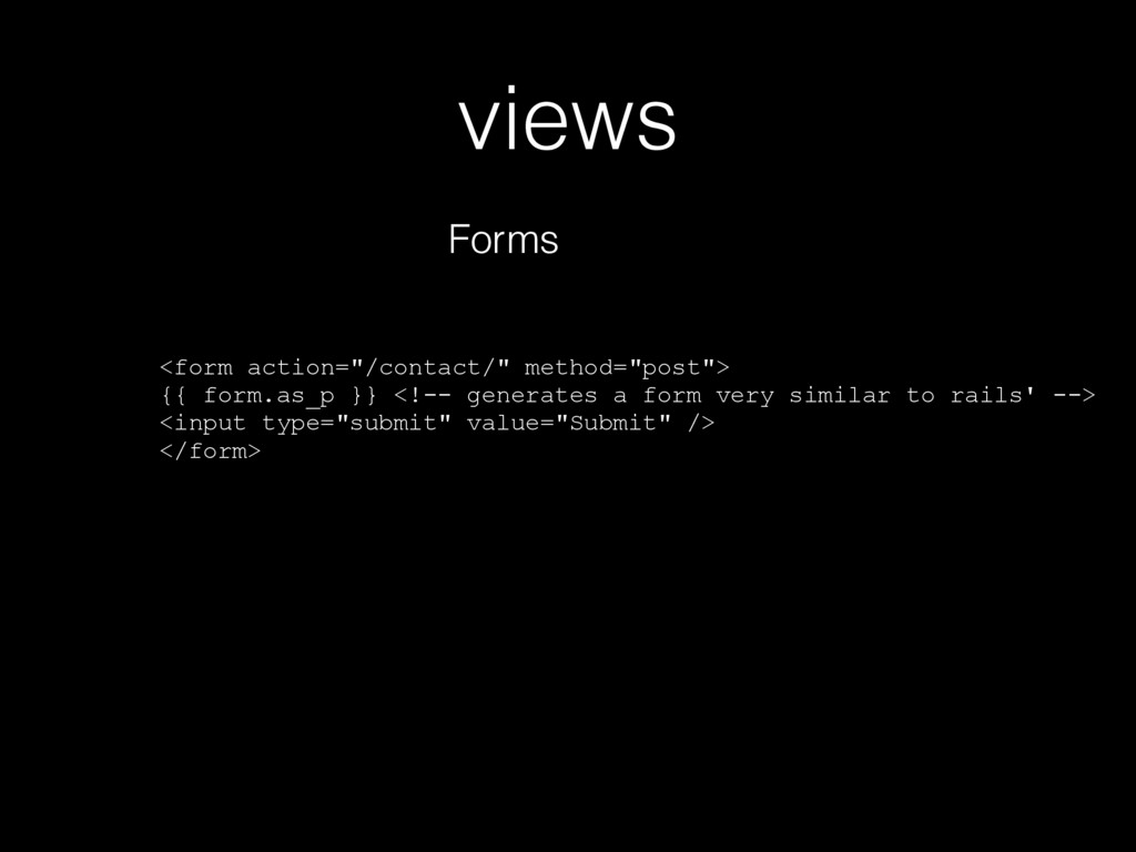 """views Forms <form action=""""/contact/"""" method=""""po..."""