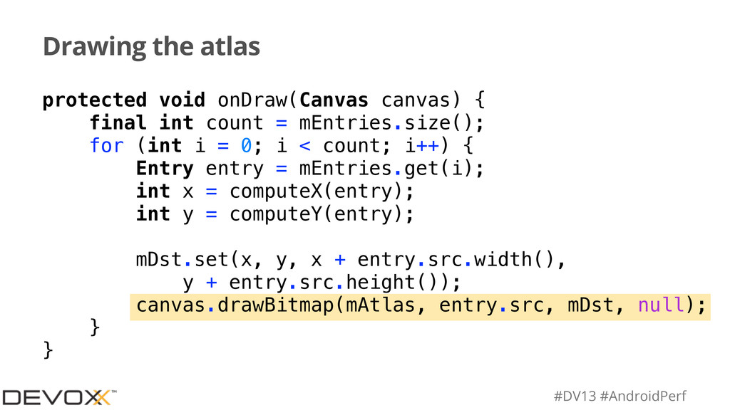 #DV13 #AndroidPerf Drawing the atlas protected ...