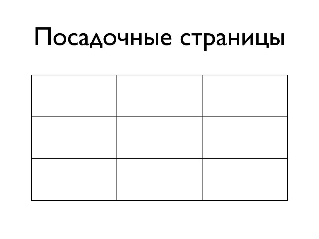Посадочные страницы