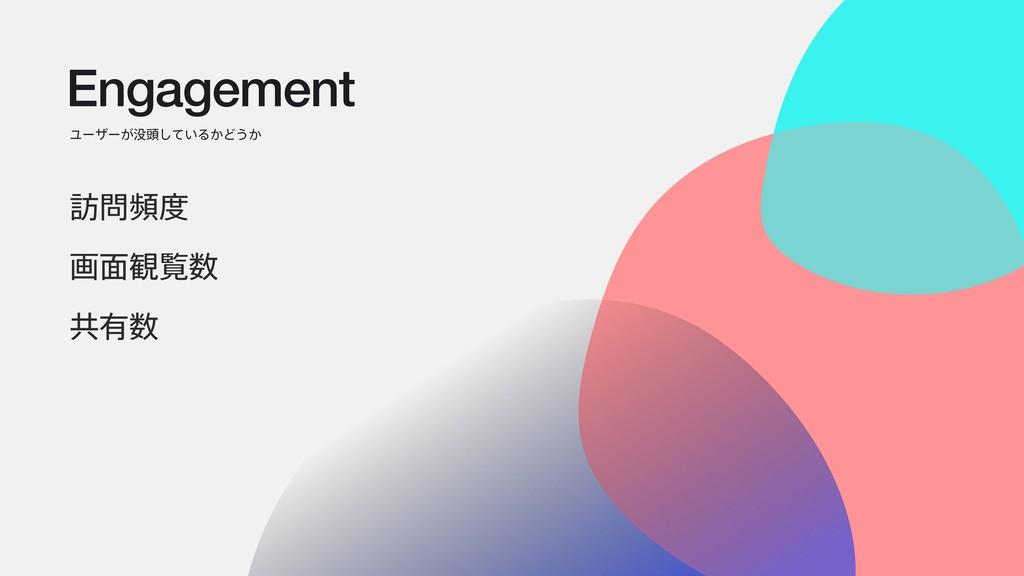 Engagement Ϣʔβʔ͕಄͍ͯ͠Δ͔Ͳ͏͔ ๚ස ը໘؍ཡ ڞ༗