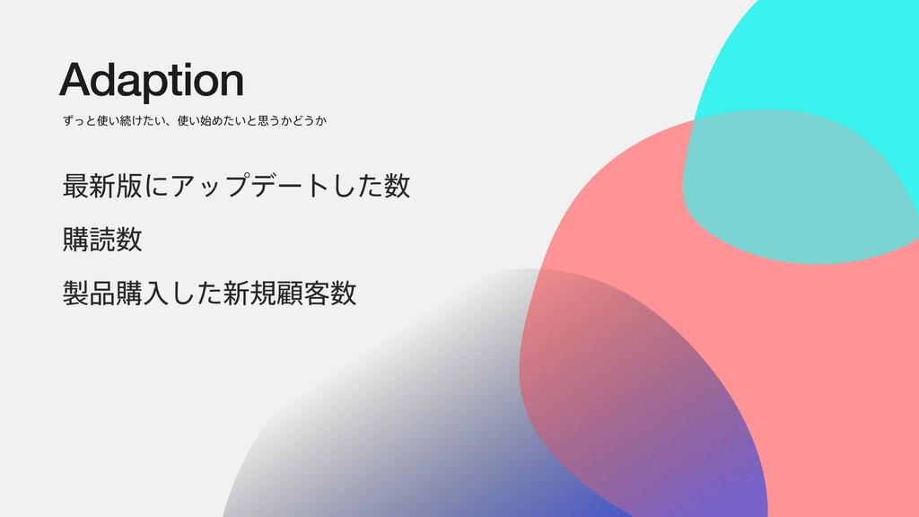 Adaption ͣͬͱ͍ଓ͚͍ͨɺ͍Ί͍ͨͱࢥ͏͔Ͳ͏͔ ࠷৽൛ʹΞοϓσʔτͨ͠...