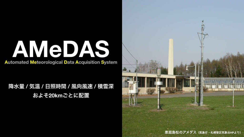 AMeDAS Automated Meteorological Data Acquisitio...