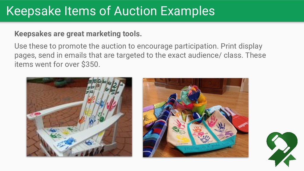 Keepsake Items of Auction Examples Keepsakes ar...