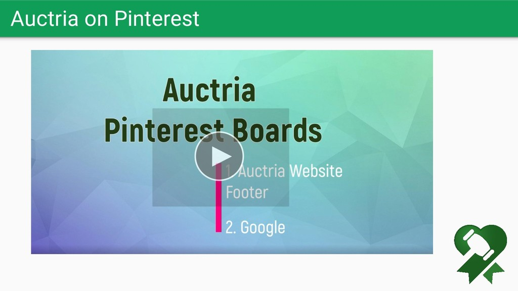 Auctria on Pinterest