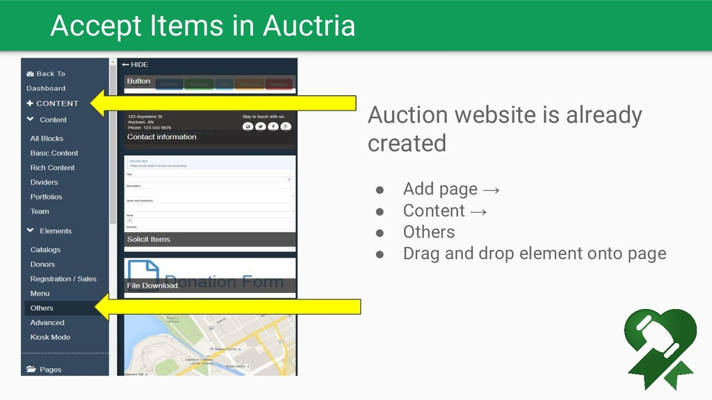 Accept Items in Auctria Auction website is alre...