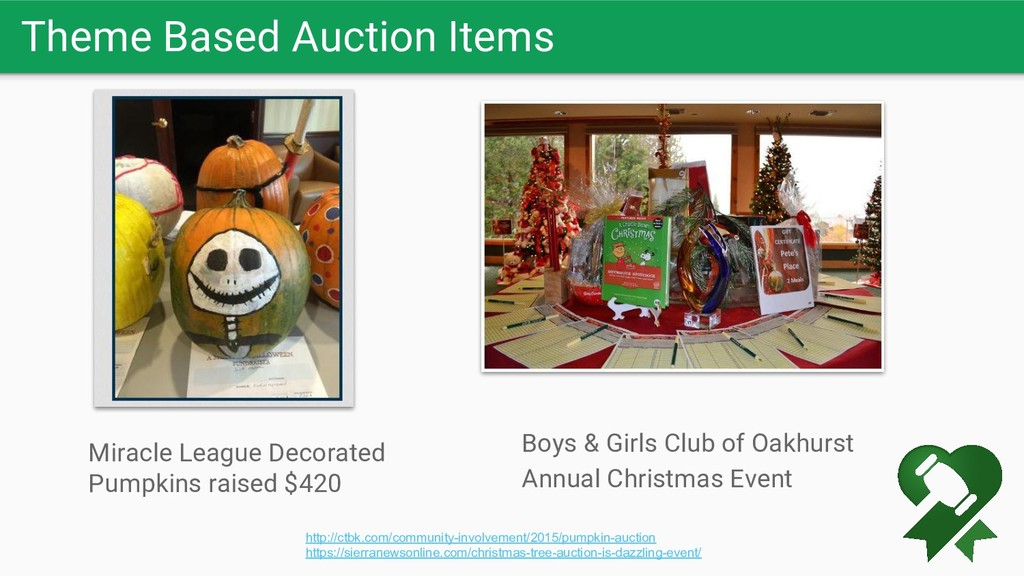 Theme Based Auction Items http://ctbk.com/commu...