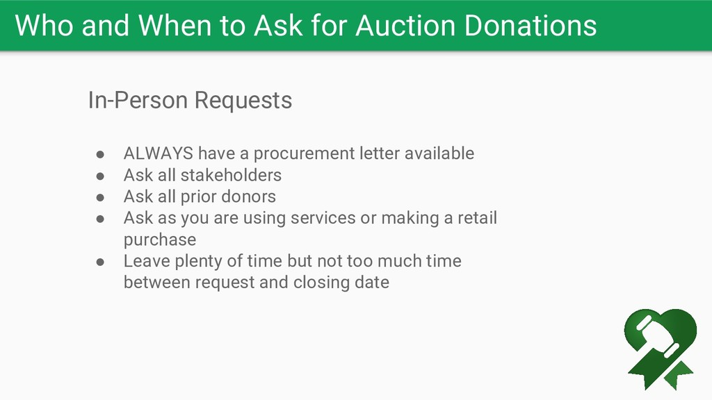 Who and When to Ask for Auction Donations In-Pe...