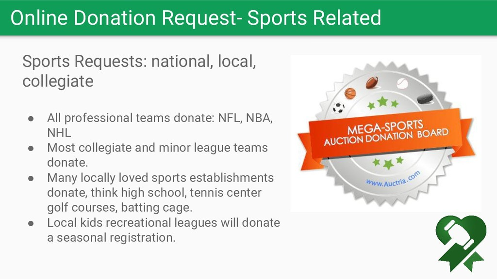 Online Donation Request- Sports Related Sports ...