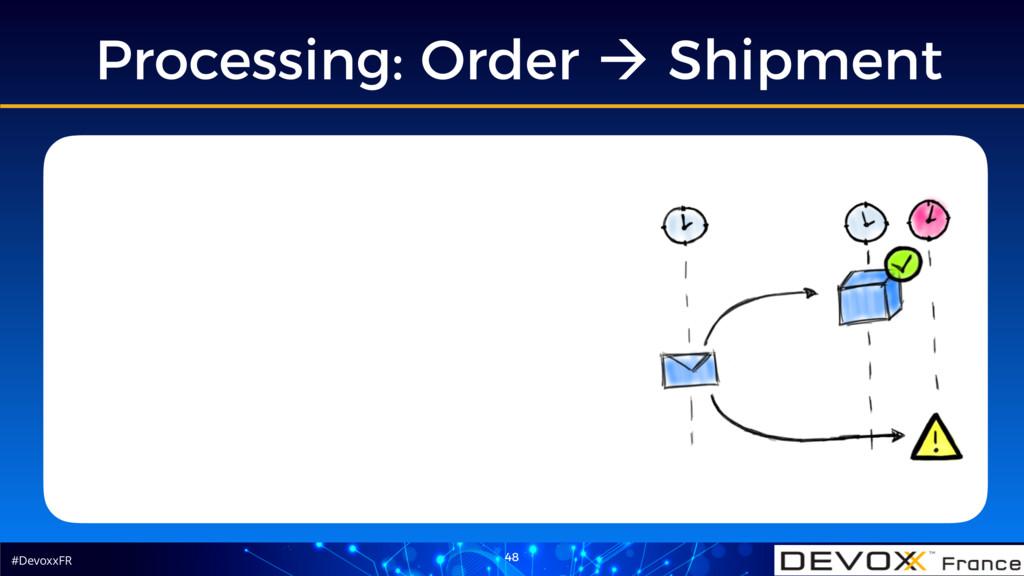 #DevoxxFR Processing: Order ! Shipment 48