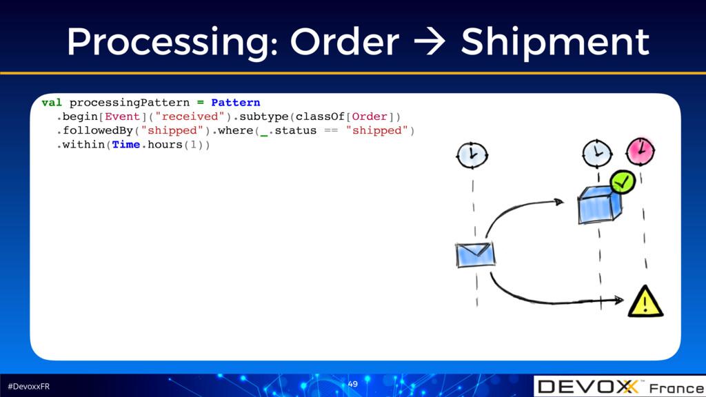 #DevoxxFR 49 Processing: Order ! Shipment val p...