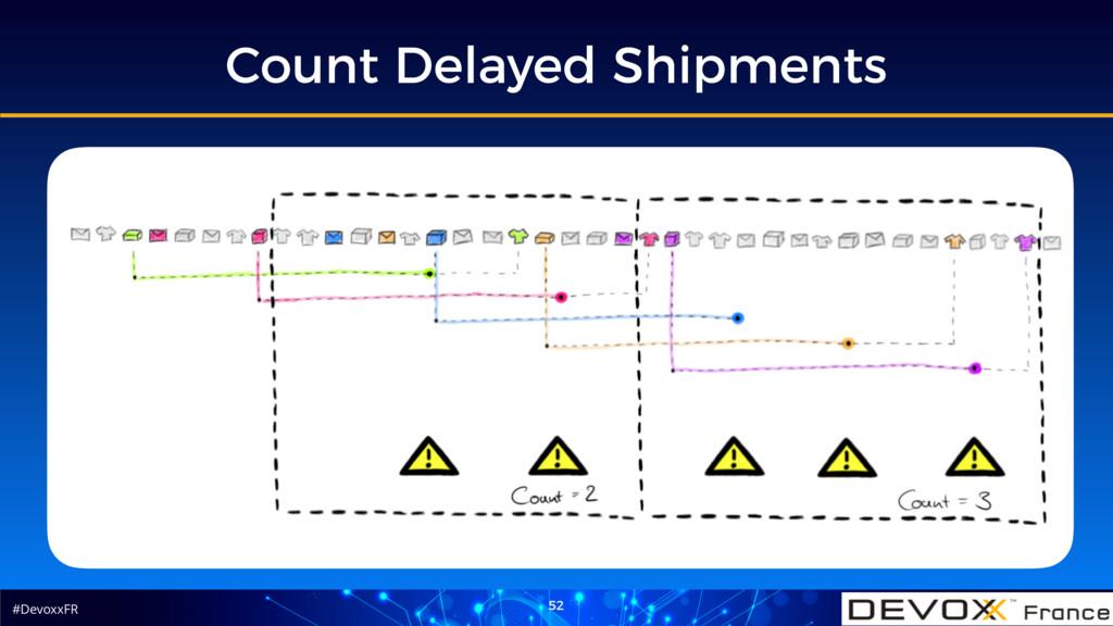 #DevoxxFR Count Delayed Shipments 52