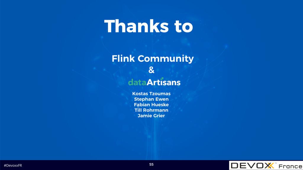 #DevoxxFR 55 Flink Community & Thanks to Kostas...