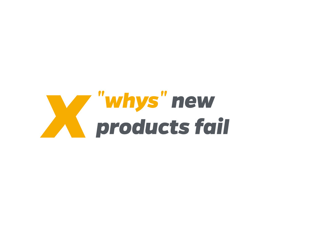 """""""whys"""" new products fail X"""