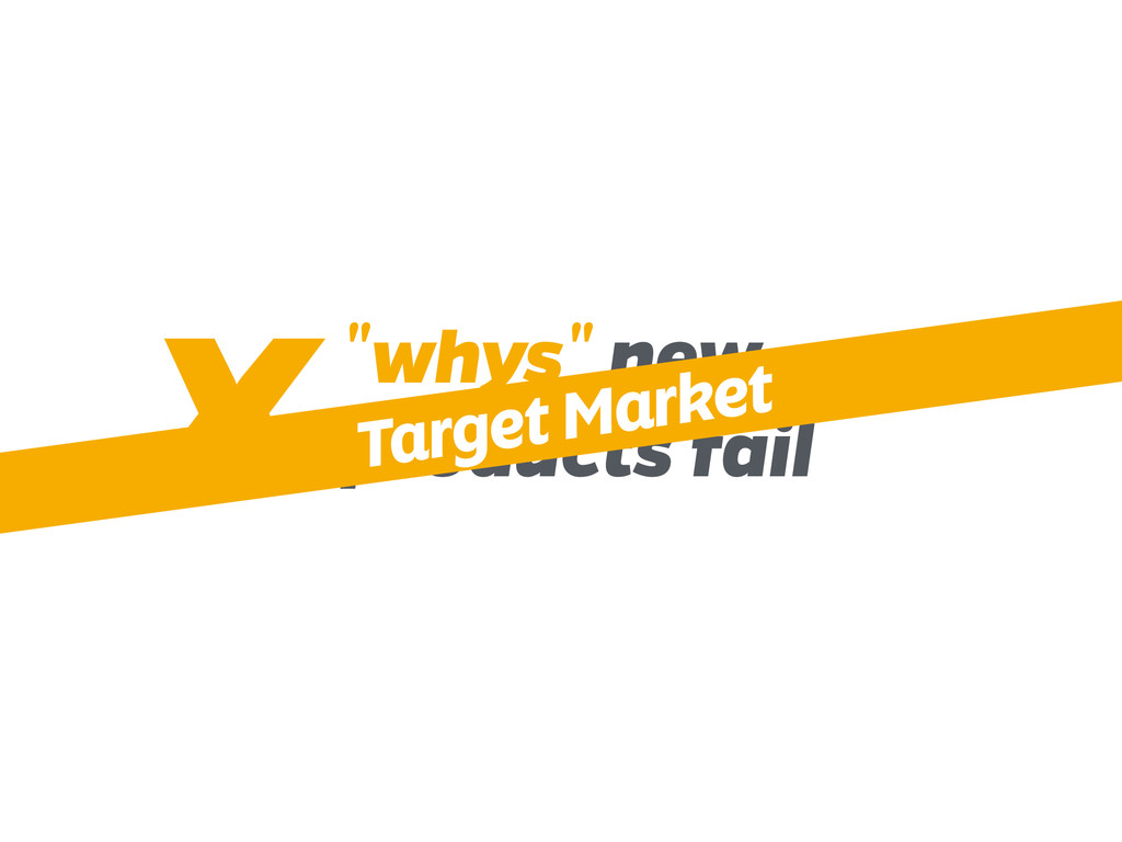 """""""whys"""" new products fail X Target Market"""