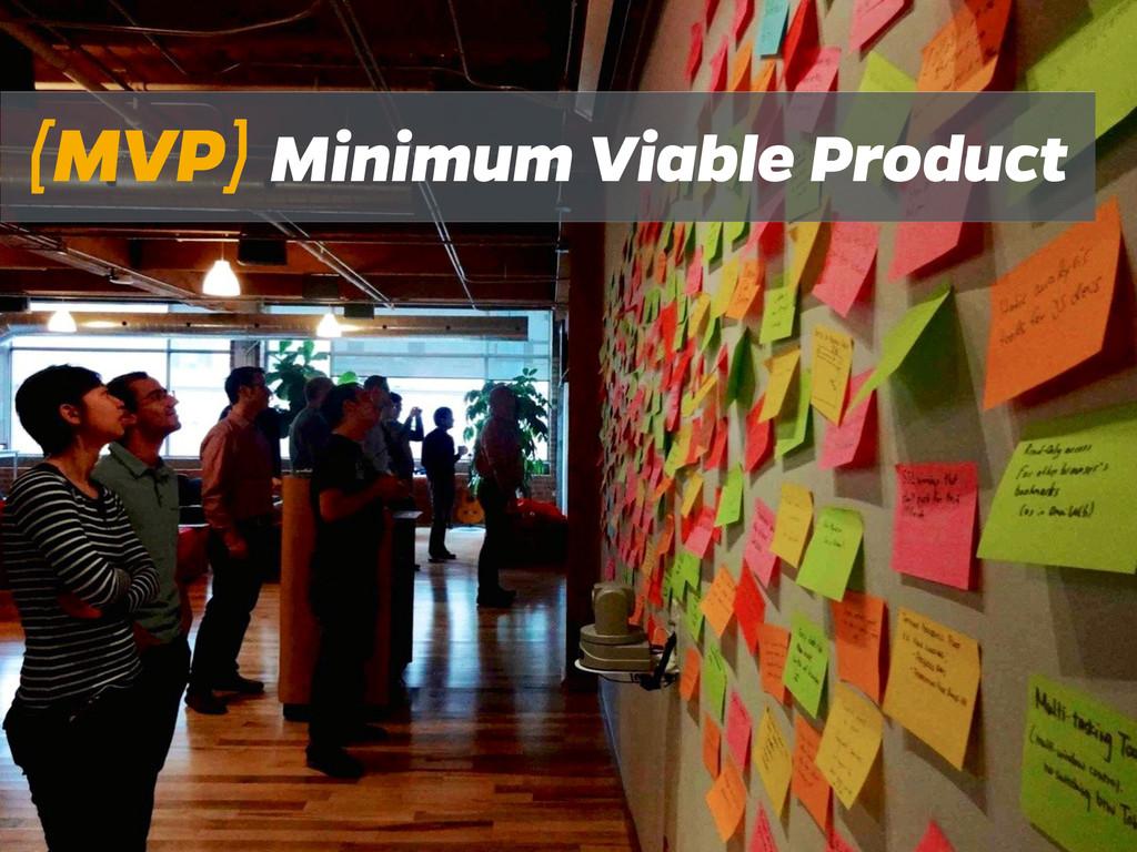 (MVP) Minimum Viable Product