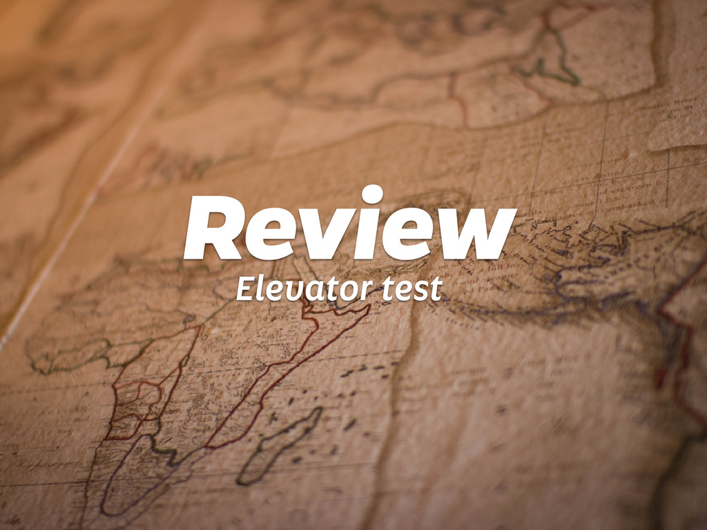 Review Elevator test