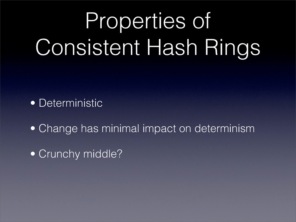 Properties of Consistent Hash Rings • Determini...