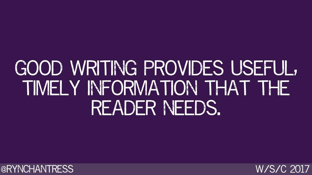 @rynchantress w/s/c 2017 good writing provides ...