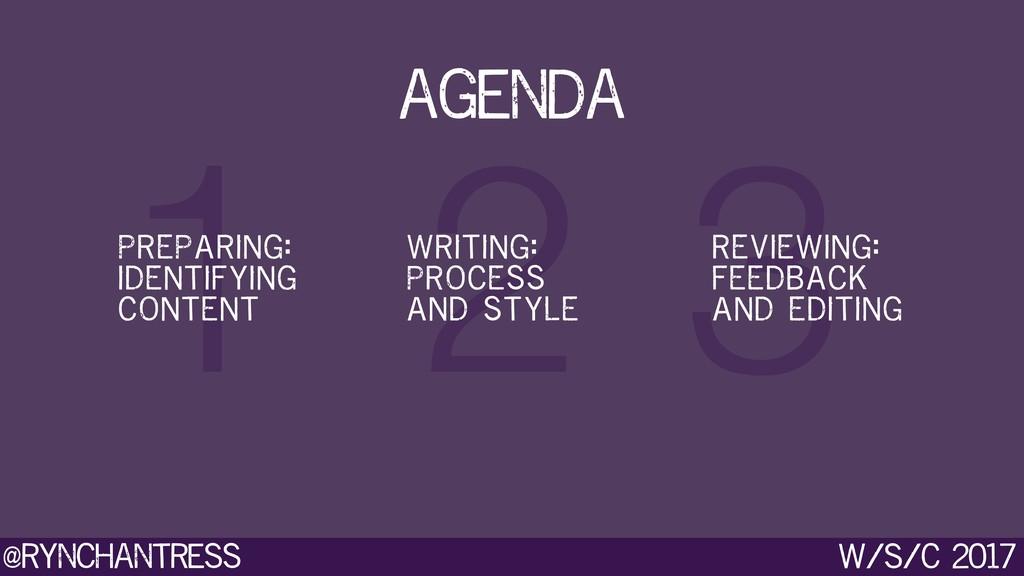@rynchantress 3 2 1 w/s/c 2017 agenda PREPARING...