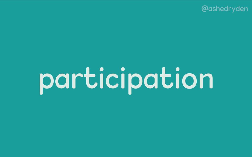 @ashedryden participation
