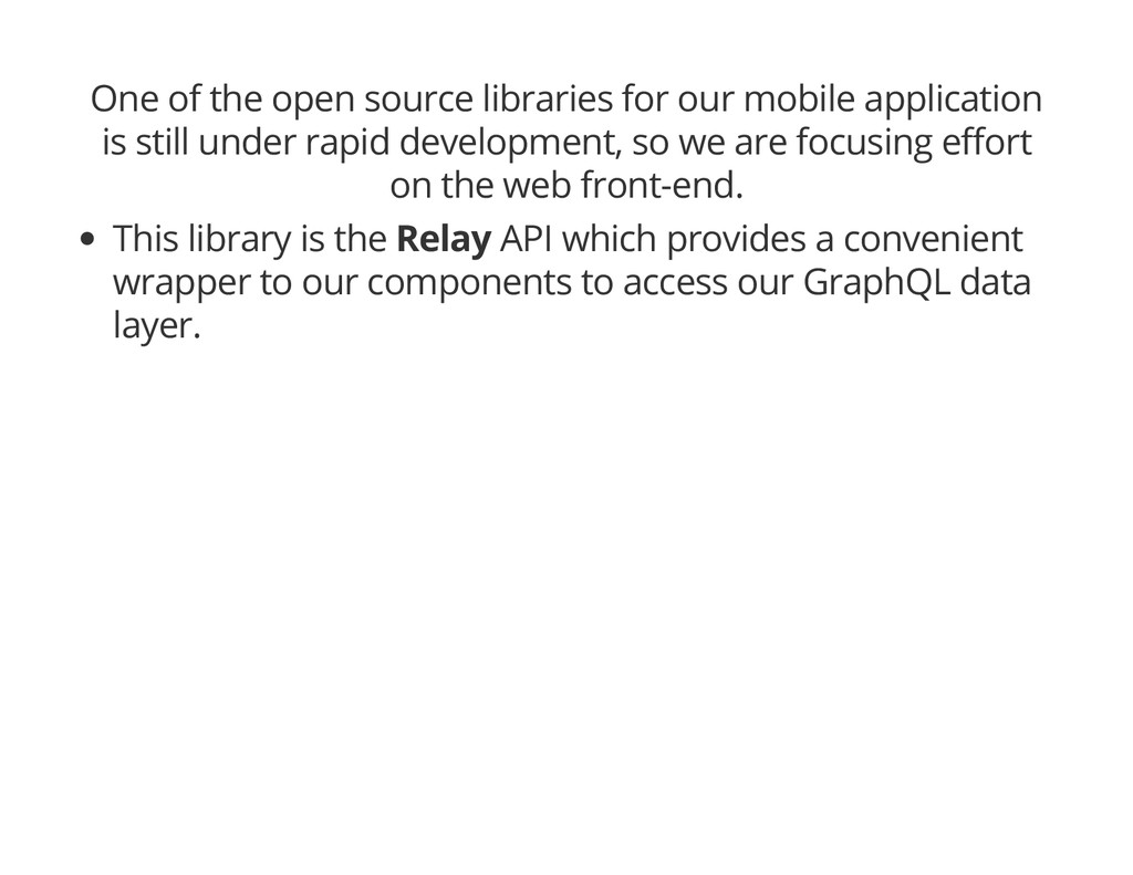 One of the open source libraries for our mobile...