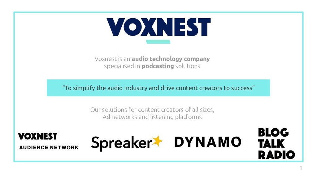 Voxnest is an audio technology company speciali...