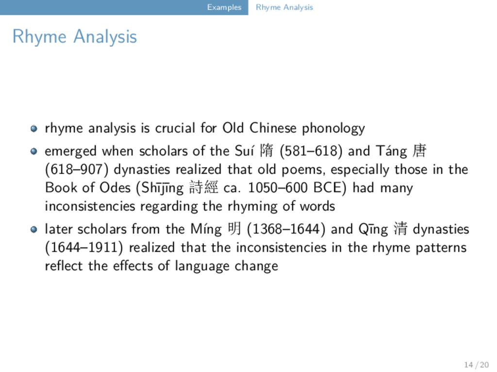 Examples Rhyme Analysis Rhyme Analysis rhyme an...