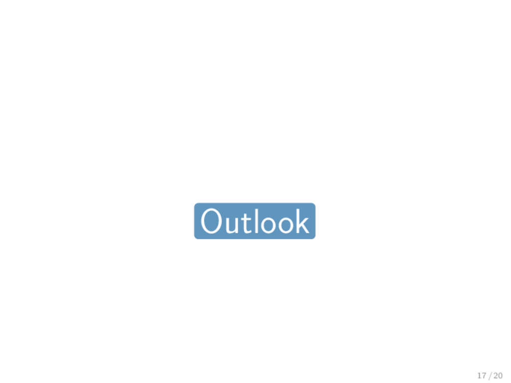 Outlook 17 / 20
