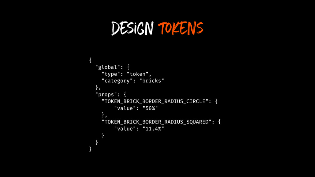 "design tokens { ""global"": { ""type"": ""token"", ""c..."