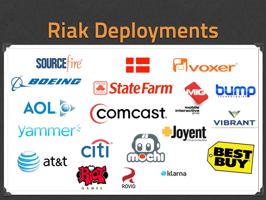 Riak Deployments
