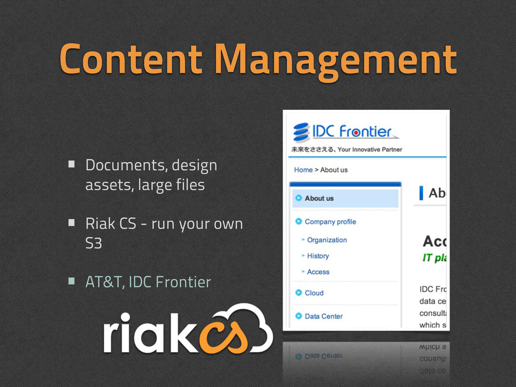 Content Management • Documents, design assets, ...