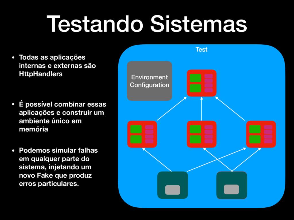 Test Environment Configuration Testando Sistemas...