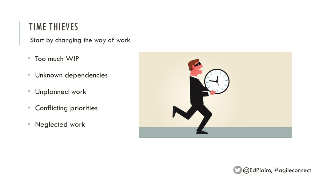 TIME THIEVES Start by changing the way of work ...