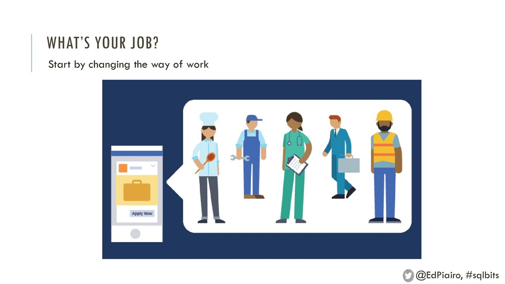 WHAT'S YOUR JOB? Start by changing the way of w...