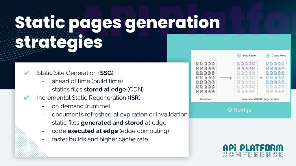 @dunglas Y Static pages generation strategies ✔...