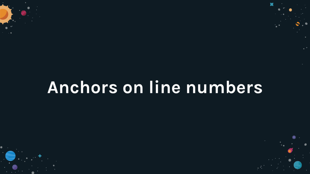 Anchors on line numbers