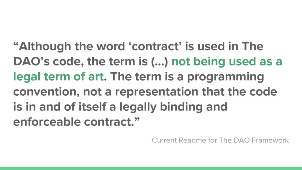 """""""Although the word 'contract' is used in The DA..."""