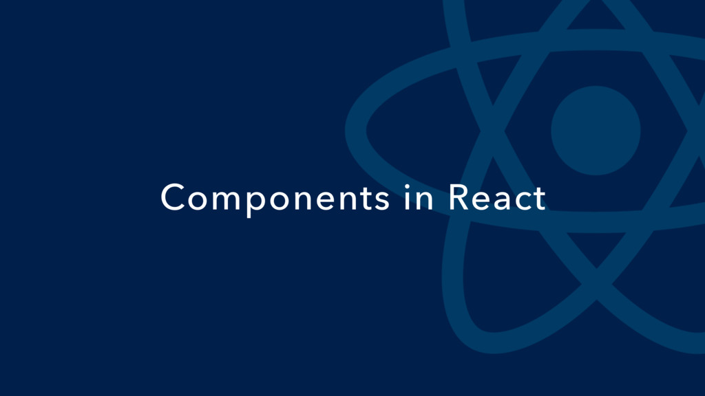 Components in React