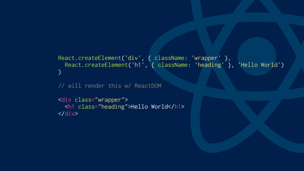 React.createElement('div', { className: 'wrappe...