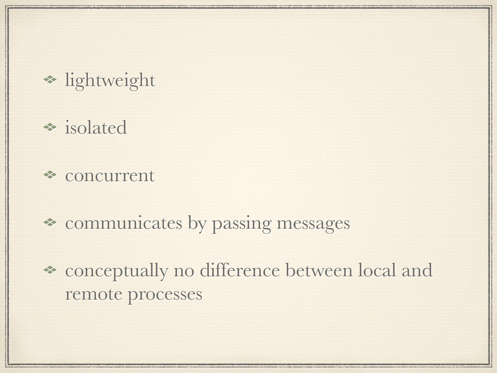 lightweight isolated concurrent communicates by...