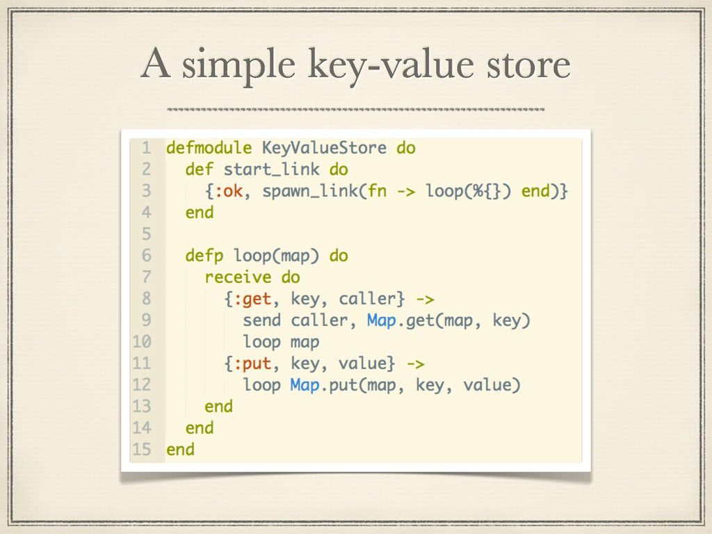 A simple key-value store