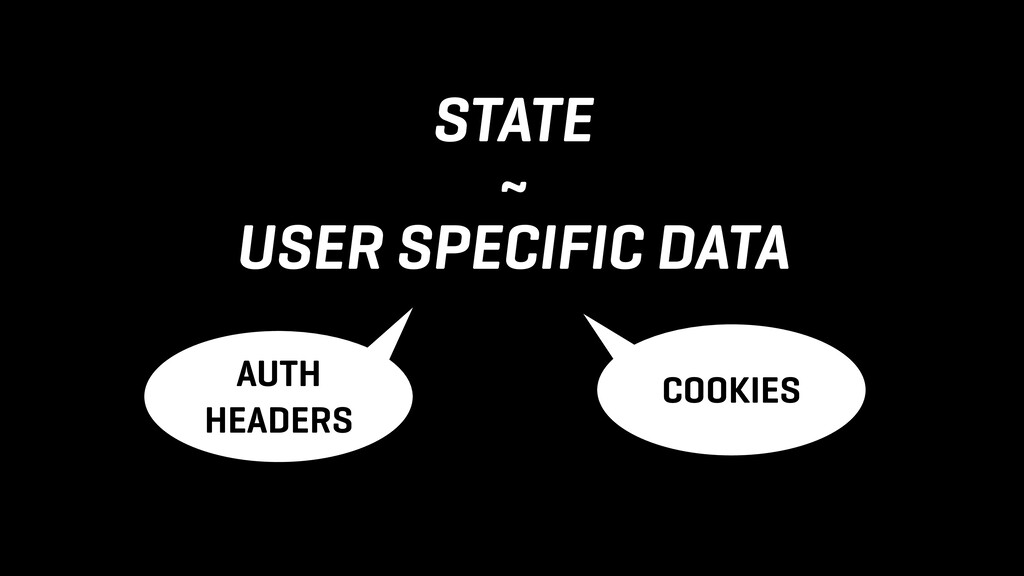 STATE ~ USER SPECIFIC DATA COOKIES AUTH HEADERS